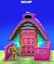 Exterior of Claudia's house in Animal Crossing: New Leaf