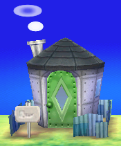 Exterior of Camofrog's house in Animal Crossing: New Leaf