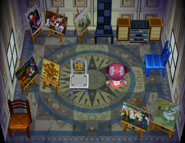 Interior of Freya's house in Animal Crossing