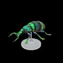 Blue Weevil Beetle Model