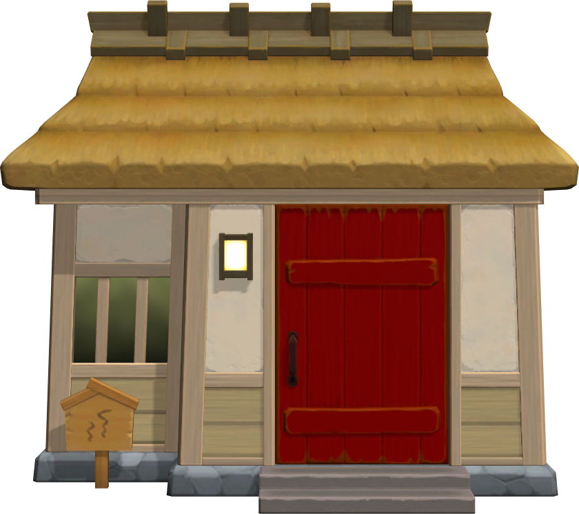 Exterior of Cranston's house in Animal Crossing: New Horizons