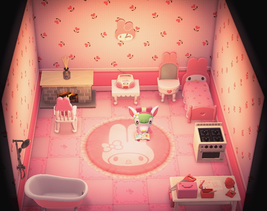 Interior of Chelsea's house in Animal Crossing: New Horizons