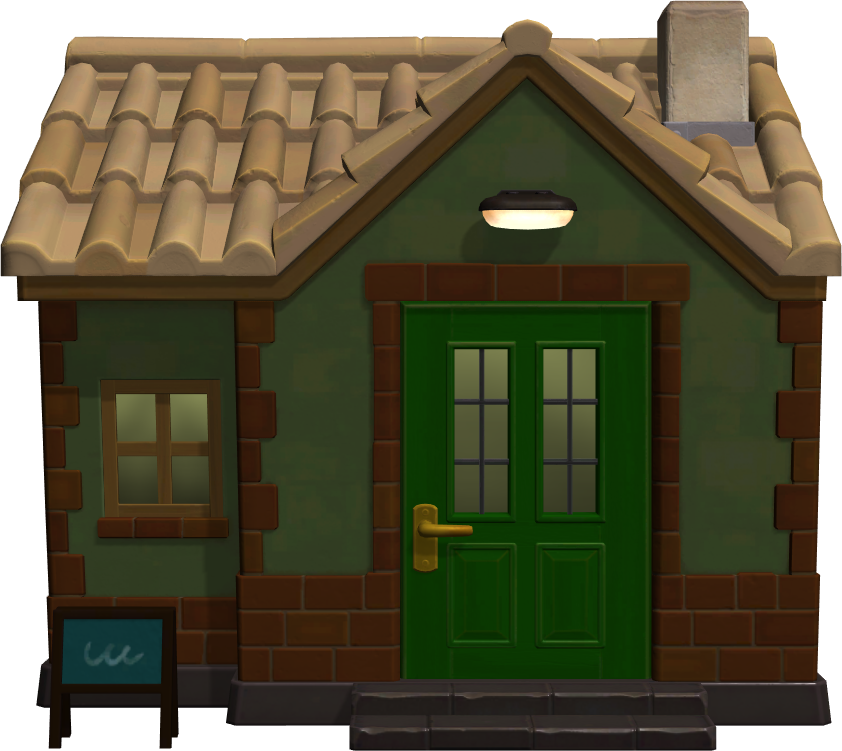 Exterior of Gruff's house in Animal Crossing: New Horizons