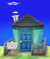 Exterior of Julian's house in Animal Crossing: New Leaf