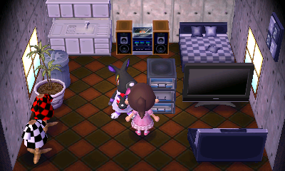 Interior of Mathilda's house in Animal Crossing: New Leaf
