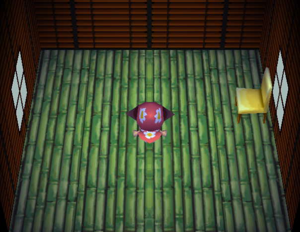 Interior of Rowan's house in Animal Crossing