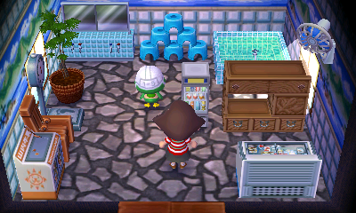 Interior of Scoot's house in Animal Crossing: New Leaf