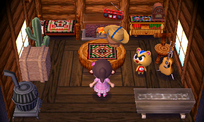 Interior of Ricky's house in Animal Crossing: New Leaf
