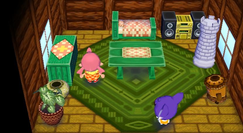 Interior of Sydney's house in Animal Crossing: City Folk