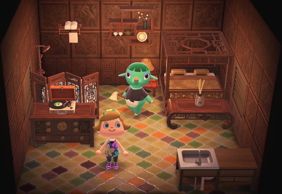 Interior of Opal's house in Animal Crossing: New Horizons