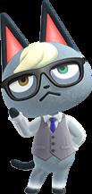 Raymond, an Animal Crossing villager.