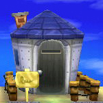 Exterior of Lobo's house in Animal Crossing: New Leaf