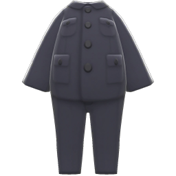 Suit with Stand-Up Collar