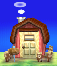 Exterior of Gabi's house in Animal Crossing: New Leaf
