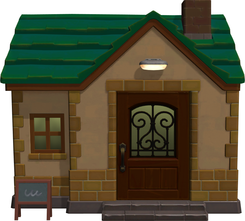 Exterior of Leopold's house in Animal Crossing: New Horizons