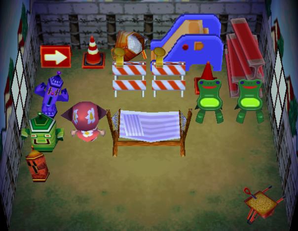 Interior of Vladimir's house in Animal Crossing