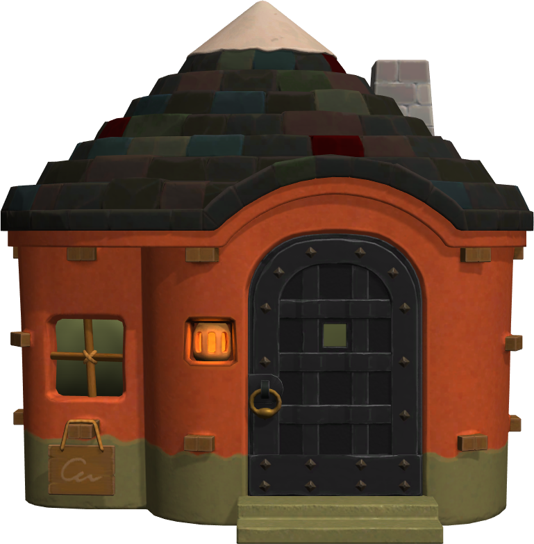 Exterior of Angus's house in Animal Crossing: New Horizons