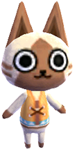 Felyne, an Animal Crossing villager.