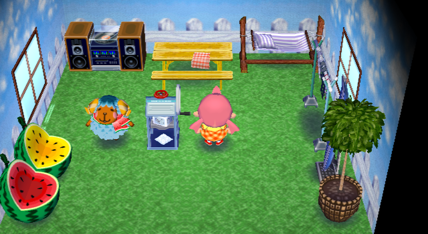 Interior of Wendy's house in Animal Crossing: City Folk