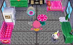 Interior of Bella's house in Animal Crossing: Wild World