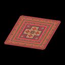 Red Kilim-Style Carpet