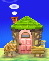 Exterior of Deena's house in Animal Crossing: New Leaf