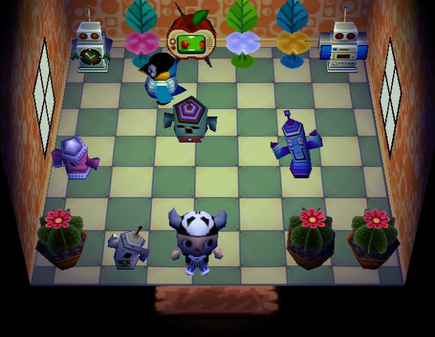 Interior of Cube's house in Animal Crossing