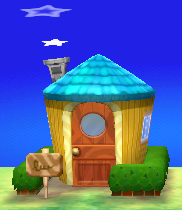 Exterior of Hamlet's house in Animal Crossing: New Leaf