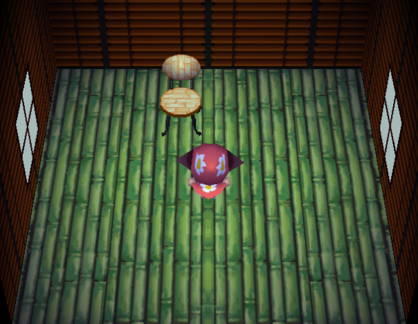 Interior of Plucky's house in Animal Crossing