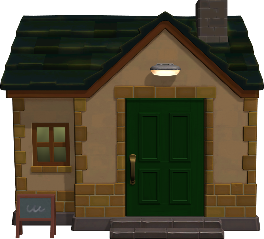 Exterior of Anchovy's house in Animal Crossing: New Horizons