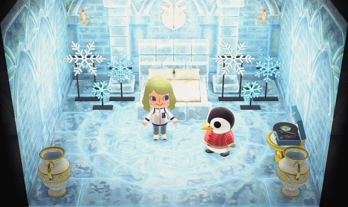 Interior of Aurora's house in Animal Crossing: New Horizons