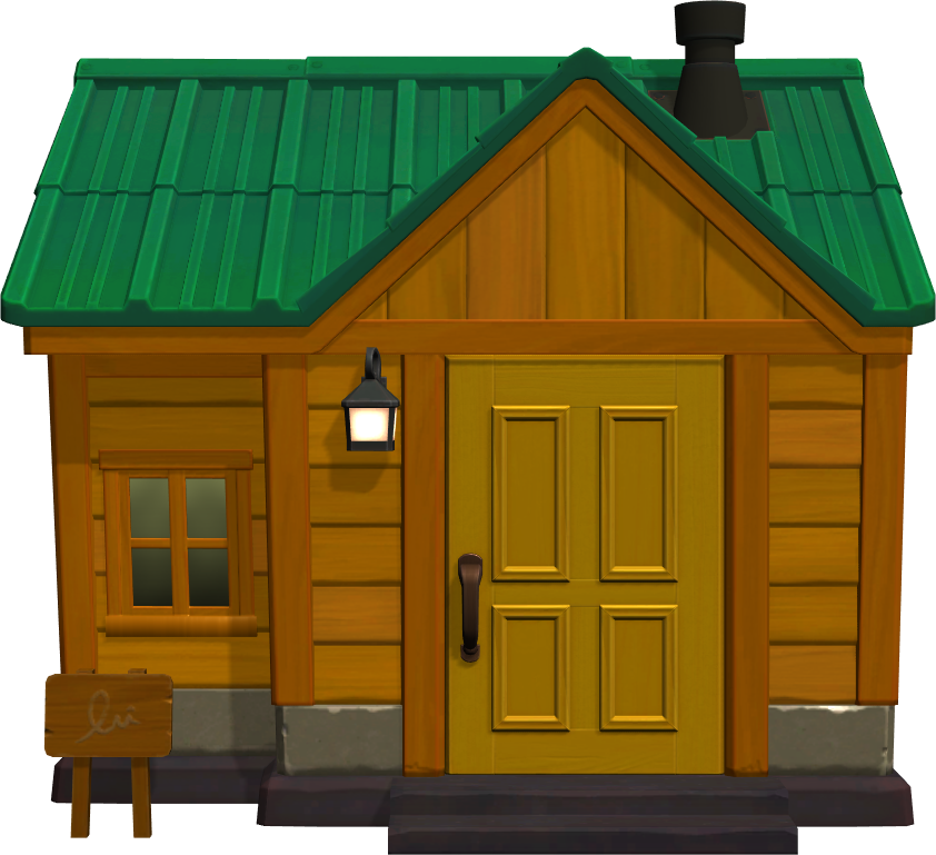 Exterior of Sheldon's house in Animal Crossing: New Horizons