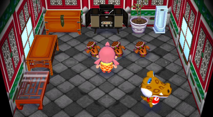 Interior of Alfonso's house in Animal Crossing: City Folk
