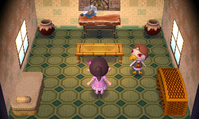 Interior of Medli's house in Animal Crossing: New Leaf