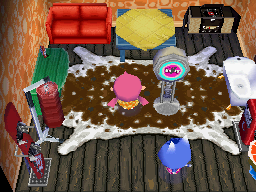 Interior of Rosie's house in Animal Crossing: Wild World