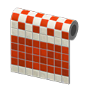 Red Two-Toned Tile Wall