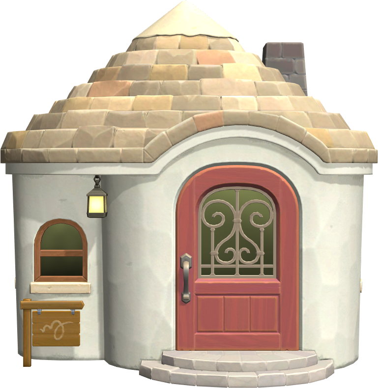 Exterior of Rosie's house in Animal Crossing: New Horizons