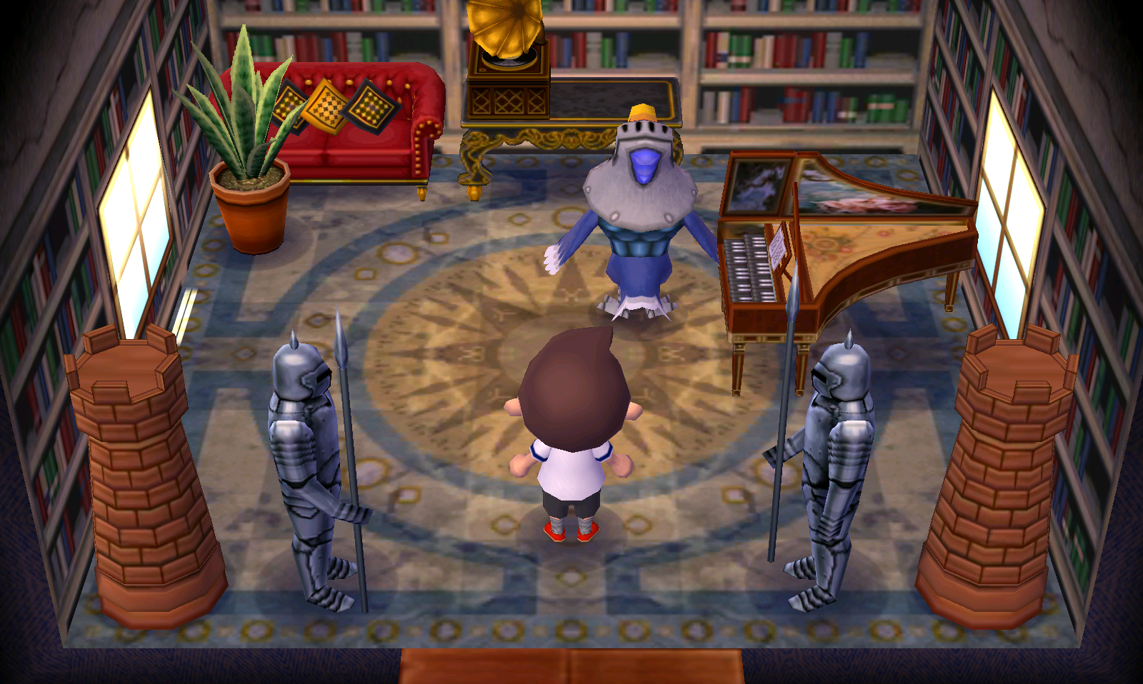Interior of Sterling's house in Animal Crossing: New Leaf