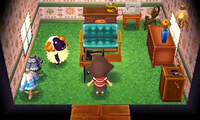 Interior of Vesta's house in Animal Crossing: New Leaf