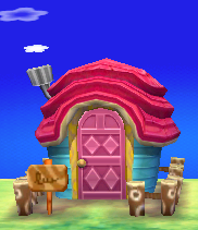 Exterior of Cookie's house in Animal Crossing: New Leaf