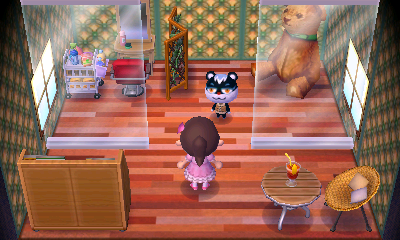 Interior of Tasha's house in Animal Crossing: New Leaf