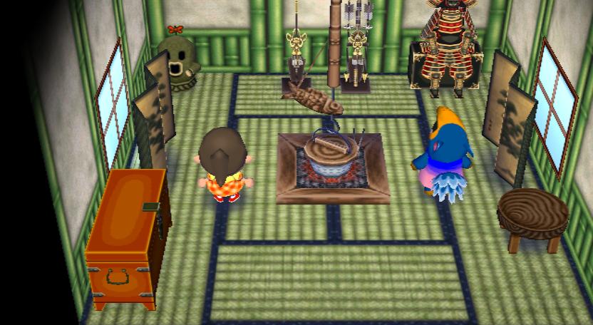 Interior of Cyrano's house in Animal Crossing: City Folk