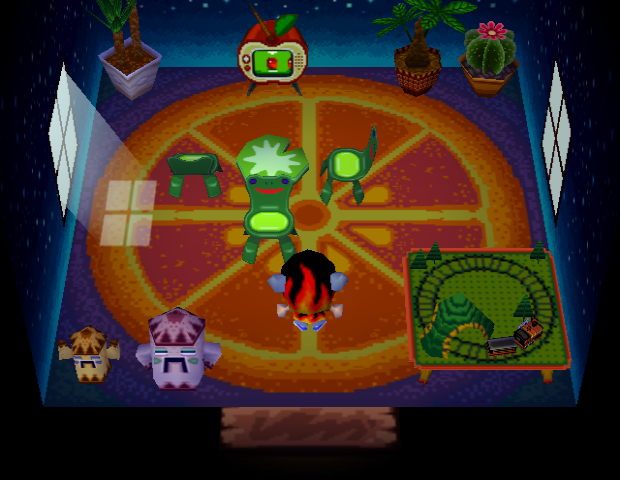 Interior of Filbert's house in Animal Crossing