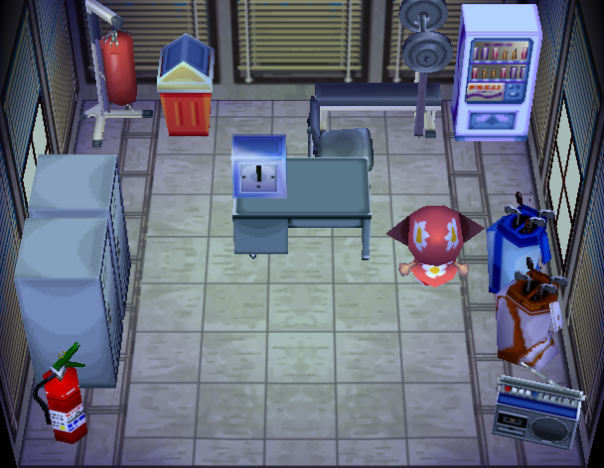 Interior of Twirp's house in Animal Crossing