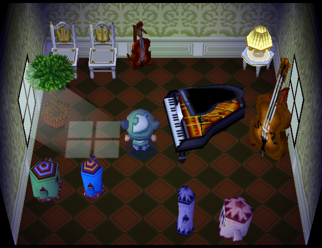 Interior of Tiara's house in Animal Crossing