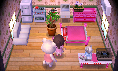 Interior of Tutu's house in Animal Crossing: New Leaf