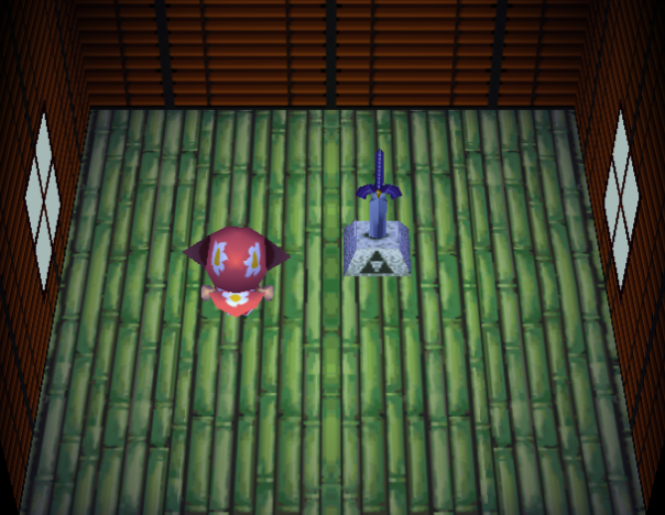 Interior of Ankha's house in Animal Crossing