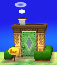 Exterior of Charlise's house in Animal Crossing: New Leaf