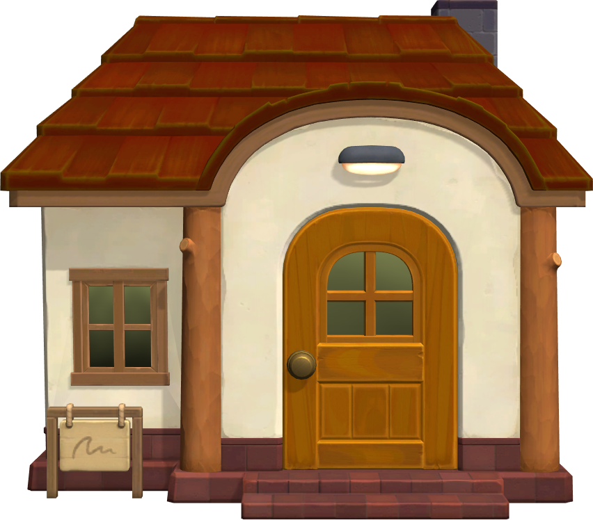 Exterior of Hamlet's house in Animal Crossing: New Horizons