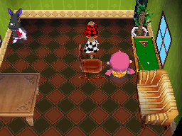 Interior of Mathilda's house in Animal Crossing: Wild World